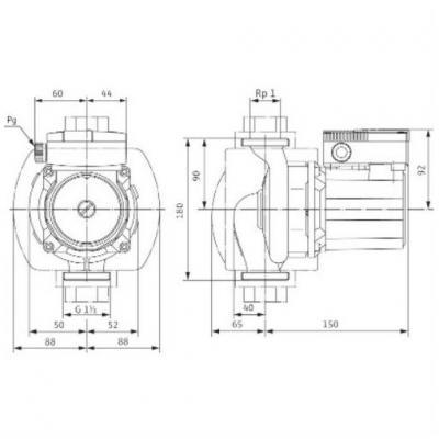 Насос циркуляционный Wilo TOP-S30/10 с однофазным двигателем