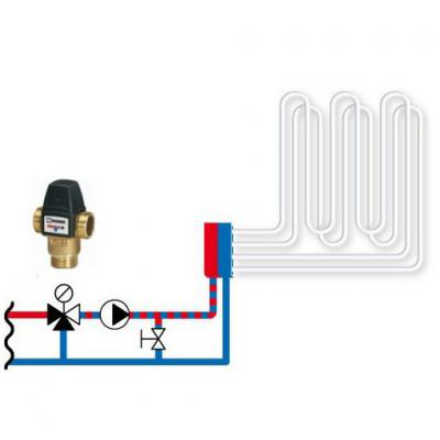 Клапан термостатический смесительный трехходовой ESBE VTA 522, DN25, н.р 1