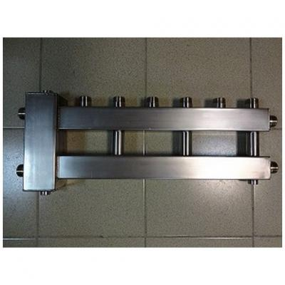 Гидрострелка с коллектором на4 контура из нержавеющей стали (3 вверх, 1 боковой), вход 1 1/4, выходы 1