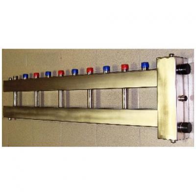 Гидрострелка с коллектором на6 контуров из нержавеющей стали (5 вверх, 1 боковой), вход 1 1/4