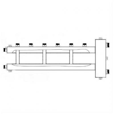 Гидрострелка с коллектором на 4 контура (3 вверх, 1 боковой), вход 1 1/2