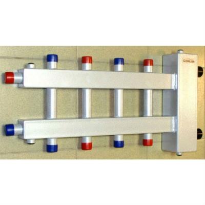 """Коллектор отопления с гидрострелкой Gidruss BM-150-5DU (до 150 кВт, вход 1 1/2"""" НР, 5 контуров 1"""" НР)"""