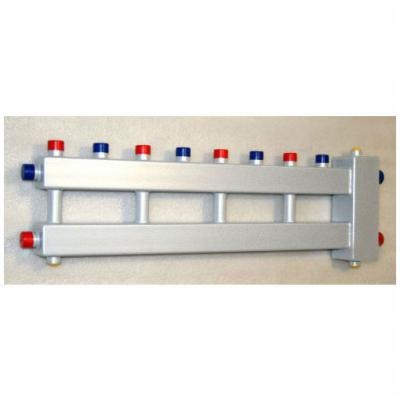 """Гидрострелка с коллектором на 5 контуров (4 вверх, 1 боковой, вход 1 1/4""""), выход 1'', до 60 кВт"""