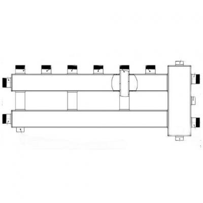 Гидрострелка с коллектором на 4 контура (3 верх, 1 боковой) вход 1