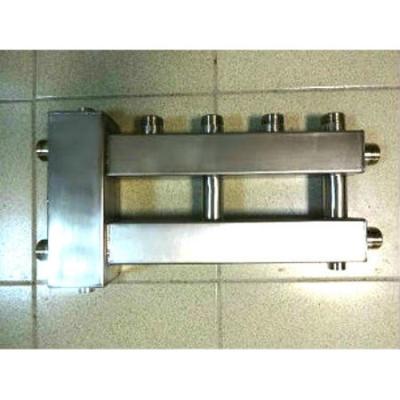 Гидрострелка с коллектором на 3 контура из нержавеющей стали (2 вверх, 1 боковой) вход 1