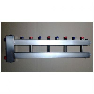 Гидрострелка с коллектором на 5 контуров из нержавеющей стали (4 вверх, 1 боковой), вход 1 1/2