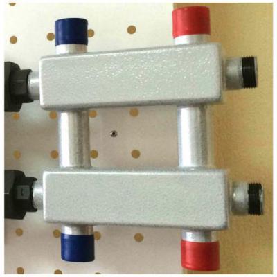 Модульный коллектор отопления Gidruss MK-60-3DU (без гидрострелки, 3 контура G 1'')