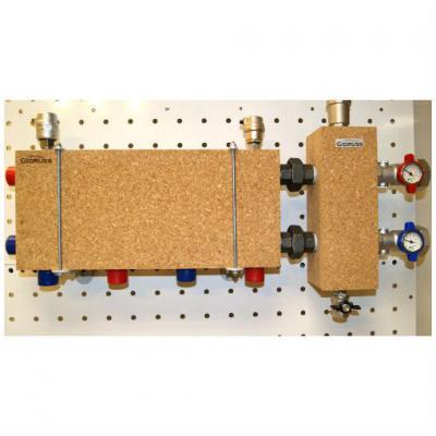 Модульный коллектор отопления Gidruss MK-60-3D (без гидрострелки 3 контура G 1'')