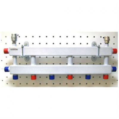 Модульный коллектор отопления Gidruss MK-60-4D (без гидрострелки, 4 контура G 1'')
