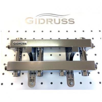 Модульный коллектор Gidruss MKSS-40-3D (без гидрострелки, 3 выхода G 3/4'')