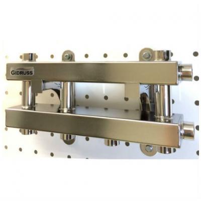 Модульный коллектор отопления Gidruss MKSS-60-3D (без гидрострелки, 3 контура G 1'')