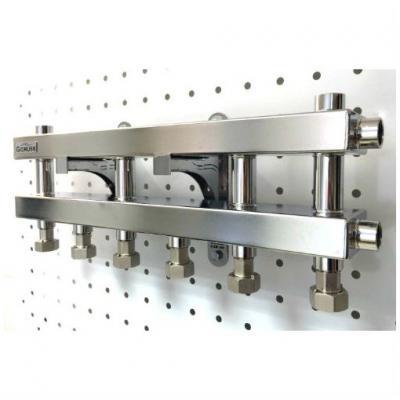 Модульный коллектор отопления Gidruss MKSS-60-4D (без гидрострелки, 4 контура G 1'')