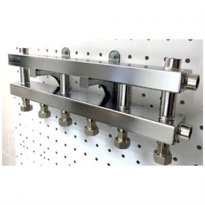 Модульный коллектор отопления Gidruss MKSS-40-4D (без гидрострелки 4 контура G 3/4'')