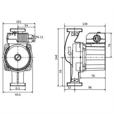Насос циркуляционный Wilo Star-Z 20/5-3 с однофазным двигателем для водоснабжения