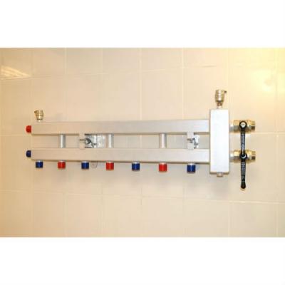 """Гидрострелка с коллектором на 4 контура (3 вниз, 1 боковой, вход 1 1/4""""), выход 1'', до 60 кВт"""