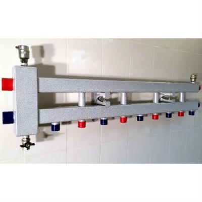 Гидрострелка с коллектором на 5 контуров (4 вниз, 1 боковой, вход 1 1/4