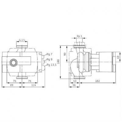 Насос циркуляционный Wilo Stratos 65/1-9 с фланцевым соединением