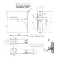 Комплект настенного монтажа Gidruss K.GRSS-100 из нержавеющей стали