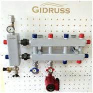 Модульный коллектор отопления Gidruss MK-60-5DU (без гидрострелки 5 контуров G 1'')