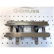 Модульный коллектор отопления Gidruss MKSS-40-5DU (без гидрострелки, 5 контуров G 3/4'')