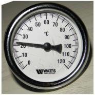 Термометры Watts биметаллические с погружной гильзой 63/50