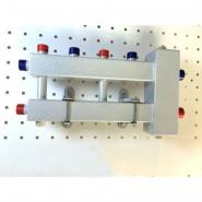 """Гидрострелка с коллектором на 3 контура (2 вверх, 1 боковой) вход 1"""", выходы 3/4"""", до 60 кВт"""