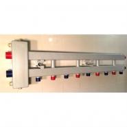 """Гидрострелка с коллектором на 5 контуров (4 вниз, 1 боковой), вход 1 1/4, выходы 1"""", до 100 кВт"""