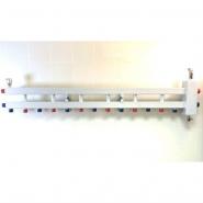 """Гидрострелка с коллектором на 7 контуров (6 вниз, 1 боковой), вход 1 1/4, выходы 1"""", до 100 кВт"""