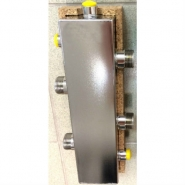 """Гидрострелка отопления DN 25 (1""""), до 60  кВт из нержавеющей стали"""