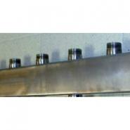 """Распределительный коллектор Gidruss DMSS-32-25x4 из нержавеющей стали (вход G 1 1/4"""", Транзитный выход 1 1/4"""", 4 контура 1"""")"""