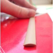 """Ротанг искусственный """"Полумесяц текстура гладкая, цвет бежевый, ширина 6-9 мм"""", бухта"""