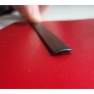 """Ротанг искусственный """"Полумесяц текстура гладкая, цвет венге, ширина 6-9 мм"""", бухта"""