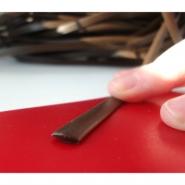 """Ротанг искусственный """"Полумесяц текстура гладкая, цвет шоколадный ширина 9 мм"""", бухта"""